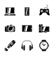 set gadget icons with - notebook phone vector image