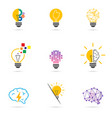 set light bulb icon energy and idea symbol vector image vector image