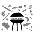 set of accessories for barbecue vector image vector image