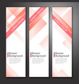 set of vertical abstract colorful banner stand vector image vector image