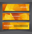 set of web banner standard size template with vector image vector image