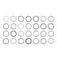set round doodle frames empty circles vector image