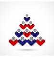 social Christmas tree vector image vector image