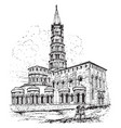 st saturnin at toulouse the former abbey church vector image vector image