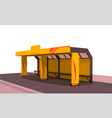 Stop for transport vector image vector image