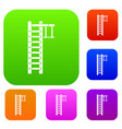 swedish ladder set collection vector image