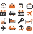 travel signs set vector image