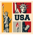 USA design American icon Flat vector image vector image