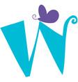 Valentine Font W vector image vector image