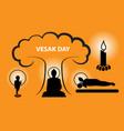 vesak day concept with worship born enlightenment vector image vector image