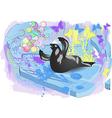 walrus on ice vector image vector image