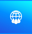 water icon with globe logo vector image