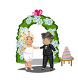 wedding celebration getting married vector image vector image