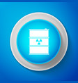 white radioactive waste in barrel icon vector image vector image