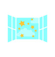 window with clouds sky isolated icon vector image vector image