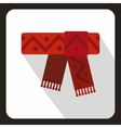 Winter scarf icon flat style vector image