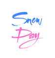 world snow day vector image vector image