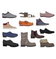 Men boots isolated set Male man season shoes vector image