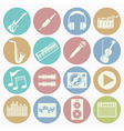 white icons music vector image