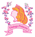 Princess Silhouette vector image