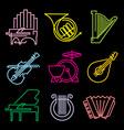symbols musical instruments vector image