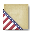 Vintage background with stripes and stars corner vector image