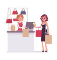 woman paying for shopping vector image