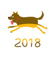 2018 greeting card with dog vector image vector image