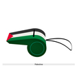 A Black White and Green Whistle of Palestine vector image