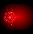 abstract circle digital technology background vector image