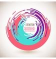 Abstract colorful circles background vector image vector image