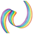 Abstract colorful curved ribbon on a white vector image vector image