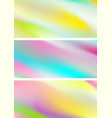 abstract holographic soft gradient stripes vector image