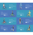active lifestyle posters set with man on bicycle vector image vector image
