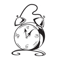 Black and white contour clock vector image vector image