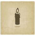 candle old background vector image