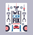 car service advertising poster vector image