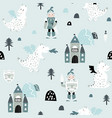 childish seamless pattern with knight dragon and vector image vector image