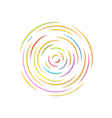 circle with color rounded lines vector image vector image