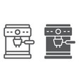 coffee maker line and glyph icon coffee and cafe vector image