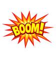 comic explosion symbol vector image vector image