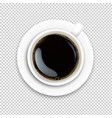 cup with coffee and plate vector image vector image