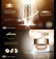 digital golden glass bottle spray essence vector image