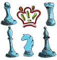 drawn colored chess vector image vector image
