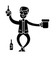 drunk man icon sign o vector image