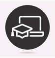 e-learning education icon learn academic study vector image vector image