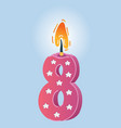 eight years celebration vector image vector image
