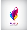 family with kids 4 people group logo vector image vector image