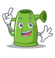 finger watering can character cartoon vector image