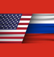 flags usa and russia concept of vector image vector image